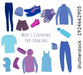set of clothes and accessories...   Shutterstock .eps vector #1924662905