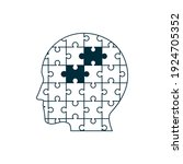 human brain with puzzle. mental ...   Shutterstock .eps vector #1924705352