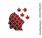 human brain with puzzle. mental ...   Shutterstock .eps vector #1924705355