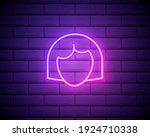 neon silhouette of a beautiful...   Shutterstock .eps vector #1924710338