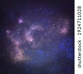 night sky with stars as... | Shutterstock . vector #1924711028