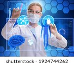 Woman Doctor In Telemedicine...