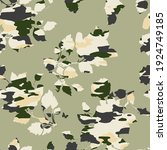 floral pattern with camouflage... | Shutterstock .eps vector #1924749185