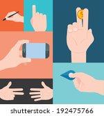 hand movement concept flat... | Shutterstock .eps vector #192475766