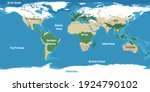 world map with continents names ... | Shutterstock .eps vector #1924790102