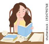 girl illustration. illustration ...   Shutterstock .eps vector #1924790768
