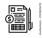 record keeping line icon vector....   Shutterstock .eps vector #1924820678
