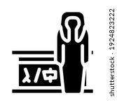 mummy museum exhibit glyph icon ... | Shutterstock .eps vector #1924823222