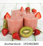 smoothies of kiwi and... | Shutterstock . vector #192482885