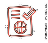 to do list icon in comic style. ...