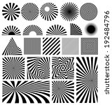 shine vector set on white... | Shutterstock .eps vector #192484796
