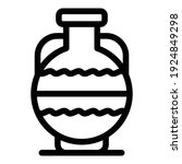 Handmade Amphora Icon. Outline...