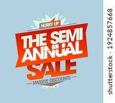 semi annual sale  massive... | Shutterstock .eps vector #1924857668