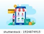 flat design online shopping ... | Shutterstock .eps vector #1924874915
