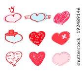 hearts set. vector illustration ...   Shutterstock .eps vector #192489146