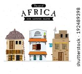 African House Style   Vector...