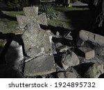 Cross. headstone at a catholic...