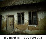 Old House With Windows And A...