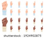 finger counting. a set of hands ... | Shutterstock .eps vector #1924902875