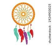 Colorful Dream Catcher Icon....