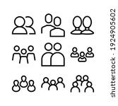 people icon or logo isolated...   Shutterstock .eps vector #1924905602