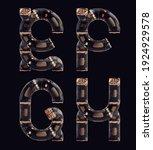 3d rendering of steampunk... | Shutterstock . vector #1924929578