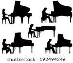 set of vector silhouettes...   Shutterstock .eps vector #192494246