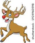 Cute Reindeer Animal Cartoon...