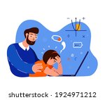 tired busy exhausted pupil girl ... | Shutterstock .eps vector #1924971212