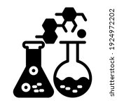 lab flasks with reaction... | Shutterstock .eps vector #1924972202