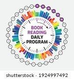 book reading vector design....   Shutterstock .eps vector #1924997492