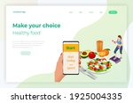 isometric healthy food and diet ... | Shutterstock .eps vector #1925004335