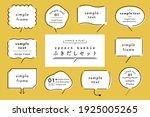 set of simple and flat speech...   Shutterstock .eps vector #1925005265