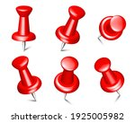collection of various red push... | Shutterstock .eps vector #1925005982