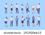 isomeric business people people ... | Shutterstock .eps vector #1925006615