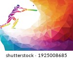 abstract cricket player vector... | Shutterstock .eps vector #1925008685