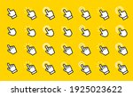 hand click vector icons set.... | Shutterstock .eps vector #1925023622