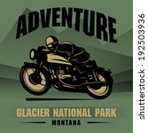 vintage motorcycle adventure... | Shutterstock .eps vector #192503936