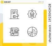 group of 4 modern filledline... | Shutterstock .eps vector #1925043428