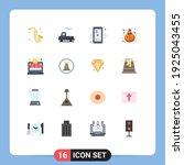 editable vector line pack of 16 ... | Shutterstock .eps vector #1925043455