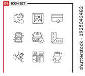 9 thematic vector outlines and... | Shutterstock .eps vector #1925043482