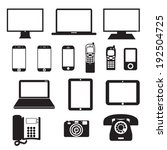 electronic devices | Shutterstock .eps vector #192504725