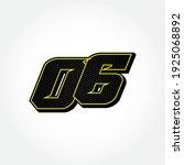simple racing start number 06... | Shutterstock .eps vector #1925068892