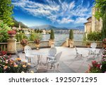 Mediterranean Terrace With...