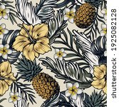 vintage tropical seamless... | Shutterstock .eps vector #1925082128
