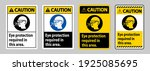 caution sign eye protection... | Shutterstock .eps vector #1925085695