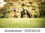 shoes friendly couple in green... | Shutterstock . vector #192510125