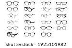 black and white glasses frames. ...   Shutterstock .eps vector #1925101982