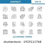 contact icons. professional ... | Shutterstock .eps vector #1925111768