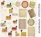 fruit store icons and vintage...   Shutterstock .eps vector #192511526